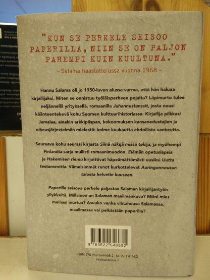 Milla Peltonen - Paperilla seisova perkele, Hannu Salaman elämä ja kirjat