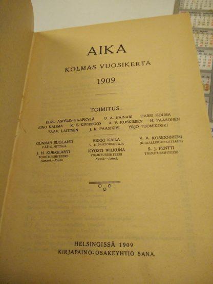 Aika - lehti vuosikerta 1909